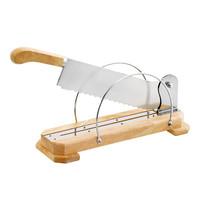 EMGA Broodsnijder houten basis en RVS mes | Mes 35(l)cm | 40x11x15(h)cm
