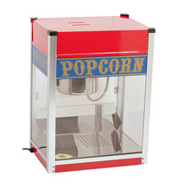 CaterChef popcorn machine met verlichting   1,5kW   extra element in de bodem   425x505x670(h)mm