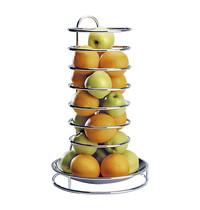 EMGA Fruitkorf met afneembare RVS schaal - Verchroomd draad  Ø32x53(h)cm