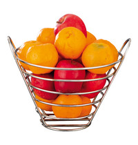 EMGA Fruitkorf  verchroomd Ø23x22(h)cm