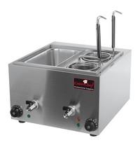 CaterChef pasta-kookapparaat   3kW    voorzien van aftapkraan   540x422x290(h)mm