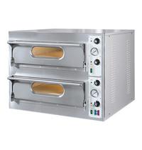 RESTO ITALIA Pizza oven | 4+4 33Øcm | 9,4kW | Met chamotte bodem | 930x980x750(h)mm