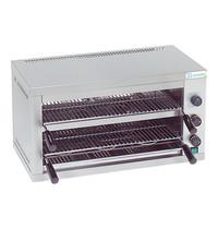 TECNO INOX salamander 2 etages | 4kW | voorzien van 2 thermostaten | 340x670x360(h)mm