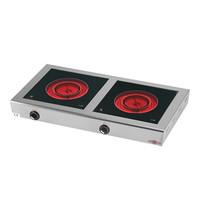 STILFER Kooktoestel met extra kookcirkel   2x 2,1kW   415x785x105(h)mm