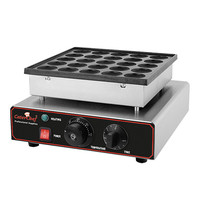 CaterChef Poffertjes bakapparaat (cap.025st.) | 850W | Thermostaat 0-300°C | 375x310x170(h)mm