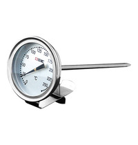 EMGA Vlees thermometer RVS met bevestigingsclip 0/+250 graden 14(l)cm