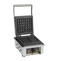 ROLLER GRILL Wafelijzer Brussels | 1.6kW | Compleet met traploze instelbare thermostaat 0-300°C | 305x440x230(h)mm