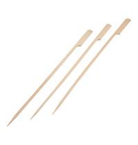 EMGA Hamburger prikkers bamboe smaakneutraal 50 stuks - 25(l)cm