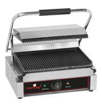 CaterChef contactgrill Solo-Grande (gegroefd/gegroefd) | 2,2kW | met thermostaat | 410x400x210(h)mm