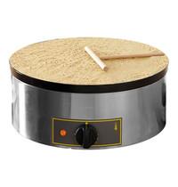 ROLLER GRILL Crêpe bakapparaat | 3,6kW | Met een houten beslagspreider | Ø40x40x19(h)cm