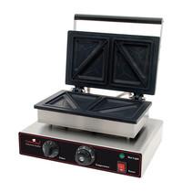 CaterChef Baktosti-apparaat RVS  | 1,55kW | De tosti's worden in tweeën gedeeld | 390x340x250(h)mm