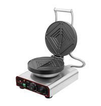 EMGA Tosti bakapparaat RVS | Non stick binnen zijden pannen | 1,55 kW/h | 390x340x250(h)mm