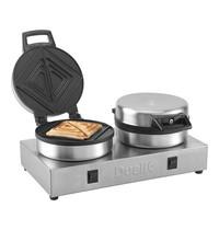 DUALIT tosti-bakapparaat | 1,6kW | met 2 schakelaars en 2 thermostaten | 220x400x190(h)mm