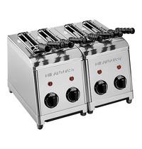 MILAN TOAST tosti-apparaat (cap.4st.) | 2,5kW | iedere sleuf met tijdklok en controlelampje | 320x370x300(h)mm