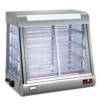 CaterChef warmhoudvitrine (cap.58x28/30/32cm) | 1,84kW |  voorzien van waterbakje voor het op peil houden van de luchtvochtigheid | 433x685x632(h)mm