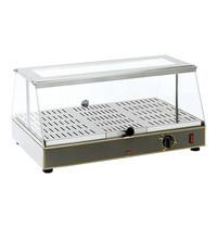 ROLLER GRILL Warmhoudvitrine (cap.56x33cm) | 650W | thermostaat en controlelampje | 590x350x285(h)mm