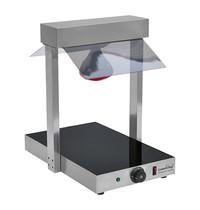 CaterChef Warmhoudplaat GN1/1 m/brug   510W   beschermkap van acrylglas en infra-rood lampen   377x575x570(h)mm