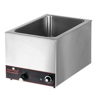 CaterChef Bain marie GN1/1x1-200mm | 1,2kW | Met ingebouwd element | 355x615x297(h)mm