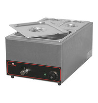 CaterChef bain marie GN1/1x1-150mm |1,2kW | Met lepeluitsparing, ent aftapkraan | 615x355x278(h)mm
