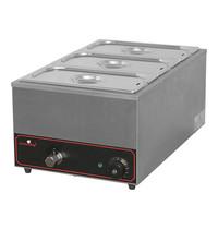 CaterChef Bain marie GN1/1x1-150mm | 1,2kW | Met regelbare thermostaat | 355x615x278(h)mm