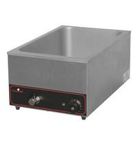 CaterChef bain marie GN1/1x1-150mm | 1,2kW | Met regelbare thermostaat | 615x355x258(h)mm