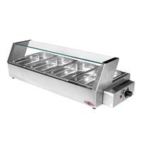 STILFER Warmhoudvitrine (cap.GN1/3x4-40mm) | 1.2kW | met thermostaat en controle lampje | 340x750x220(h)mm