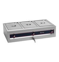 MAX PRO bain marie GN1/1x3-200mm | 3kW | Met afzonderlijke thermostaat | 610x1050x300(h)mm