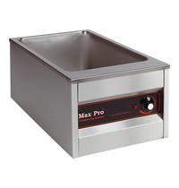 MAX PRO Bain marie GN1/1x1-200mm | 1kW | Compartimenten afzonderlijk thermostatisch instelbaar | 610x360x300(h)mm