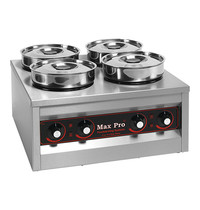 MAX PRO Spijzen warmer (cap.4st. 4,5L )  | Afzonderlijke thermostaten | 1kW | 500x500x290(h)mm