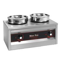 MAX PRO spijzen warmer (cap.2st.) | 500W | temperatuurbereik max. 90°C | 260x500x290(h)mm