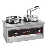 MAX PRO Sauzen-dispenser RVS 2x 4,5L | 1000W | Met gesloten deksel | 500x260x430(h)mm