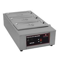 CaterChef Chocolade warmer (GN1/1-100mm) | 1kW | digitaal bedieningspaneel met thermostaat | 385x665x186(h)mm