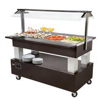 ROLLER GRILL Buffet/salade-bar (cap.4xGN1/1) | 500W | Standaard voorzien van elektronische thermostaat | 1442x950x1370(h)mm