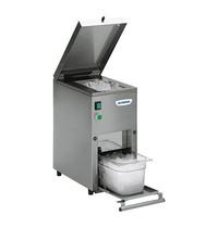 TECNO INOX ijsvergruizer   200W   apparaat geheel door micro-schakelaars beveiligd   430x250x490(h)mm