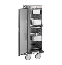 CaterChef Warmhoudwagen (cap.16xGN1/1) | 2kW |  spiraalsnoer en regelbare digitale thermostaat | 500x670x1570(h)mm
