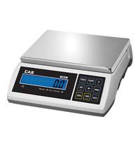 CAS Weegschaal elektronisch RVS plateau 31x22cm 015kg/0,5gr | 350x330x110(h)mm