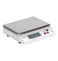EMGA Weegschaal elektronisch RVS plateau 10kg/1gr | 240x220x80(h)mm