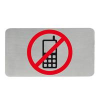 EMGA Infobord telefoonverbod RVS zelfklevend 11x6cm