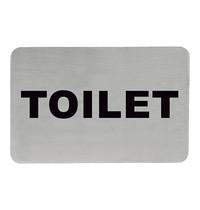 EMGA Infobord toilet RVS zelfklevend 11x6cm