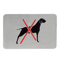EMGA Infobord hondenverbod RVS zelfklevend 11x6cm