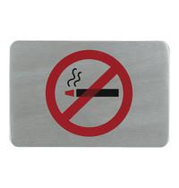 EMGA Infobord rookverbod RVS zelfklevend 11x6cm