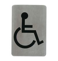 EMGA Infobord rolstoel RVS zelfklevend 11x6cm