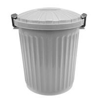 EMGA Afvalvat met afsluitbare deksel grijs kunststof | 23L |  Ø34,5x40,5(h)cm