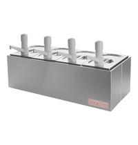 MAX PRO Saus/Dressingbar RVS | GN 1/4 | 670x280x350(h)mm