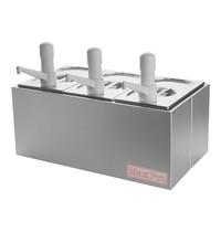 MAX PRO Saus/Dressingbar RVS | 4,8L | 510x280x350(h)mm