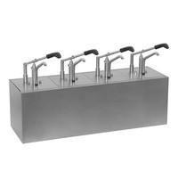 HOVICON Saus/Dressingbar RVS instelbaar tot 30g | 4x 1/6 GN-200mm |