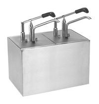 HOVICON Saus/Dressingbar RVS instelbaar tot 30 g| Cap. GN 2x 1/6-200mm  - 176x162(h)mm