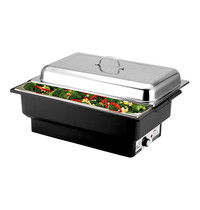 EMGA Chafing dish GN1/1 | 760W | RVS voedselpan 100mm | 570x350x280(h)mm