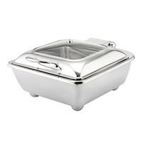 EMGA chafing dish 40x40cm | 360W | met elektrisch verhittingselement  | 400x480x240(h)mm