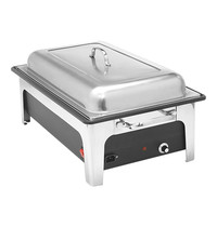 EMGA chafing dish GN1/1 | 1,85kW | thermostatisch instelbaar | 350x640x310(h)mm